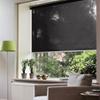 Afbeelding van Rolgordijn op maat met Kliksysteem - Antraciet bleek design Semi transparant
