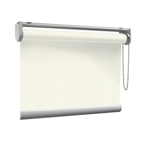 Afbeelding van Rolgordijn op maat met Kliksysteem - Crème Semi transparant