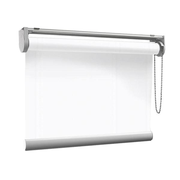Afbeelding van Rolgordijn op maat met Kliksysteem - Wit glans Semi transparant