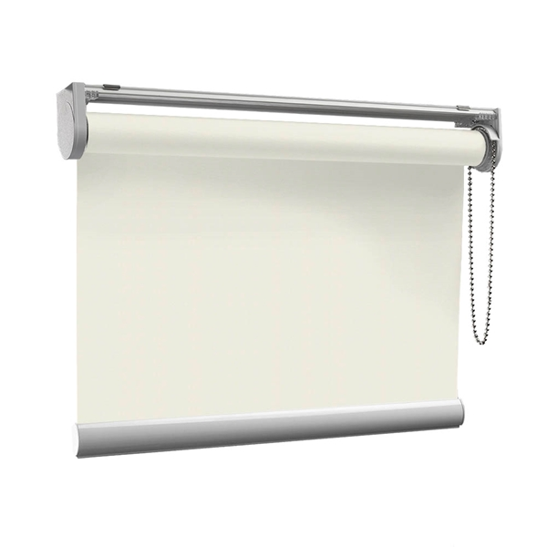Afbeelding van Rolgordijn op maat met Kliksysteem - Creme ouderwets Semi transparant
