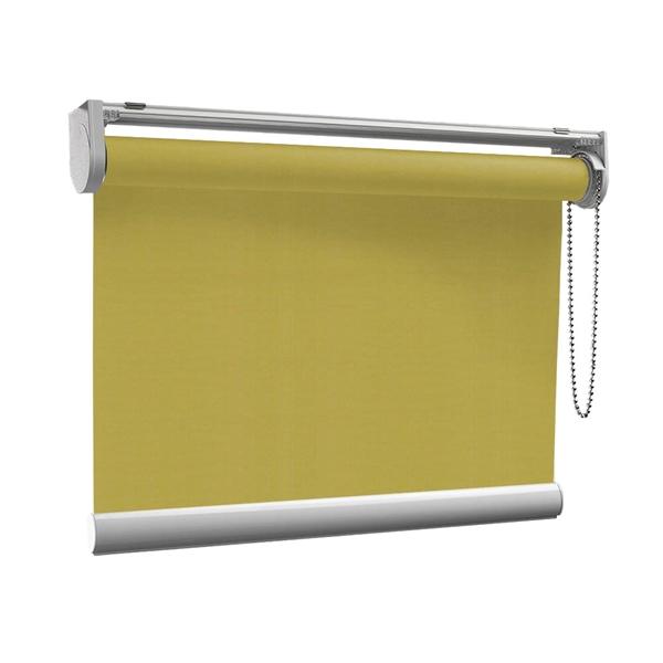 Afbeelding van Rolgordijn op maat met Kliksysteem - Olijfgroen army touch Semi transparant