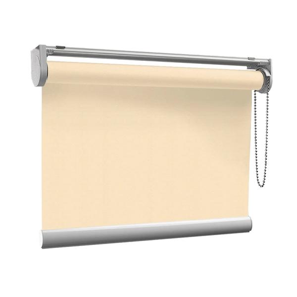 Afbeelding van Rolgordijn op maat met Kliksysteem - Beige pastel Semi transparant