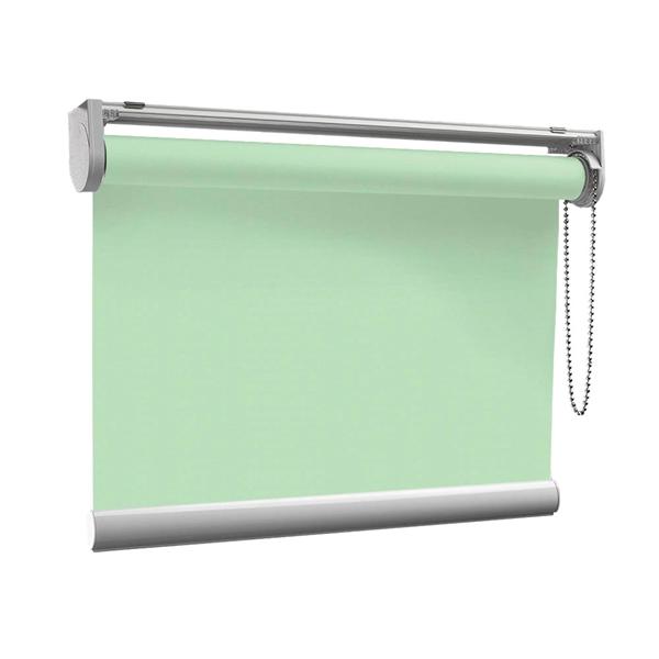 Afbeelding van Rolgordijn op maat met Kliksysteem - Pastelgroen Semi transparant