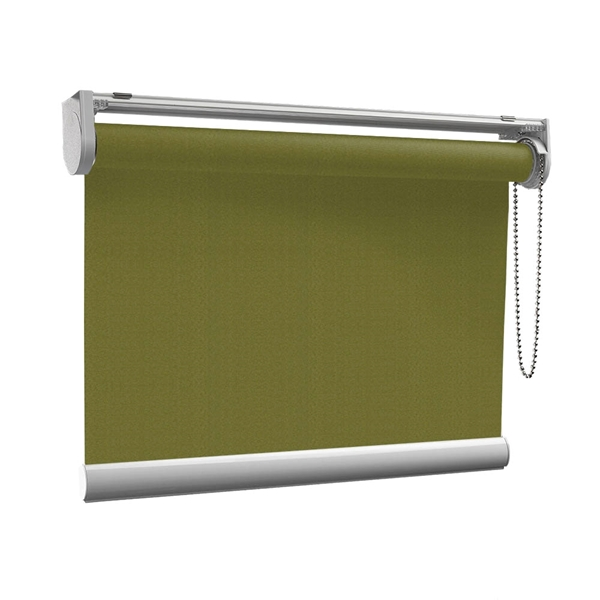 Afbeelding van Rolgordijn op maat met Kliksysteem - Olijfgroen donker Semi transparant