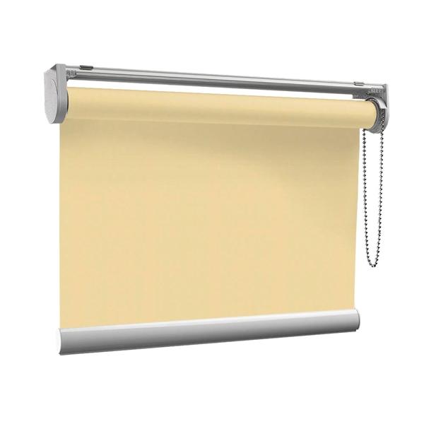 Afbeelding van Rolgordijn op maat met Kliksysteem - Beige pastelgeel Semi transparant