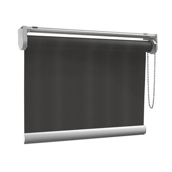 Afbeelding van Rolgordijn op maat met Kliksysteem - Bruin zwart Semi transparant