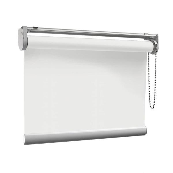 Afbeelding van Rolgordijn op maat met Kliksysteem - Gebroken wit Semi transparant