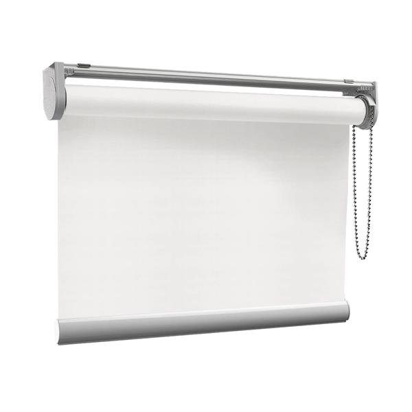 Afbeelding van Rolgordijn op maat met Kliksysteem - Wit/Crème Semi transparant