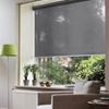 Afbeelding van Rolgordijn op maat met Kliksysteem - Grijs donker Semi transparant
