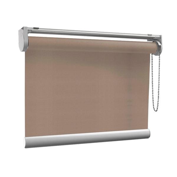 Afbeelding van Rolgordijn op maat met Kliksysteem - Taupe donkergrijs Semi transparant