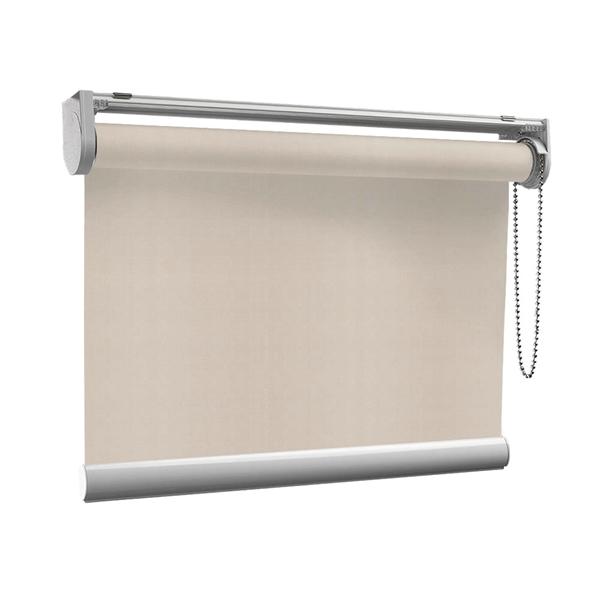 Afbeelding van Rolgordijn op maat met Kliksysteem - Taupe-grijs Semi transparant