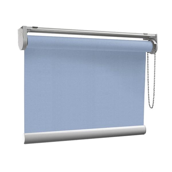 Afbeelding van Rolgordijn op maat met Kliksysteem - Licht blauw macaron Semi transparant