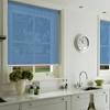 Afbeelding van Rolgordijn op maat met Kliksysteem - Licht blauw verticaal gemeleerd Semi transparant