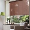 Afbeelding van Rolgordijn op maat met Kliksysteem - Bruin truffle Semi transparant