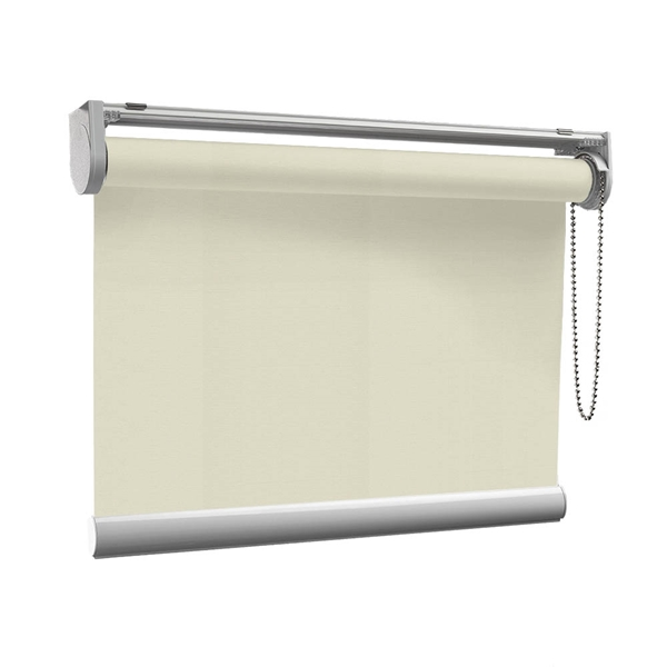 Afbeelding van Rolgordijn op maat met Kliksysteem - Taupe Semi transparant
