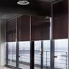 Afbeelding van Rolgordijn op maat met Kliksysteem - Beige grijs Semi transparant