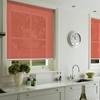 Afbeelding van Rolgordijn op maat met Kliksysteem - Roze/Rood Semi transparant