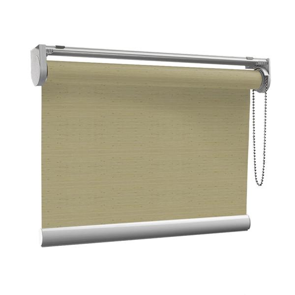Afbeelding van Rolgordijn op maat Klik-en-klaar - Glans goud beige met streep Transparant