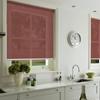 Afbeelding van Rolgordijn op maat Klik-en-klaar - Glans rood Transparant