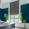 Afbeelding van Rolgordijn op maat Klik-en-klaar - Luxe donkerbruin  gemeleerd Transparant