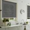 Afbeelding van Rolgordijn op maat Klik-en-klaar - Luxe donkergrijs  gemeleerd Transparant