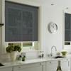 Afbeelding van Rolgordijn op maat Klik-en-klaar - Luxe zwart wit Transparant