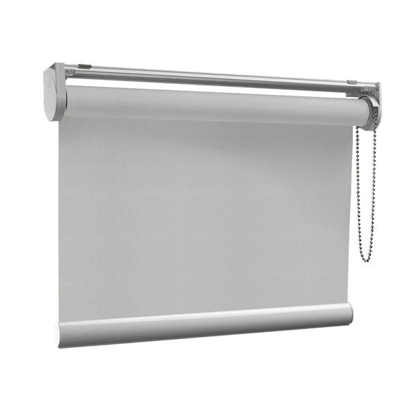 Afbeelding van Rolgordijn op maat Klik-en-klaar - Creme geweven Transparant