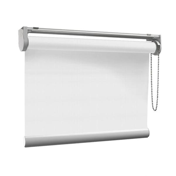 Afbeelding van Rolgordijn op maat Klik-en-klaar - Vitrage wit Transparant