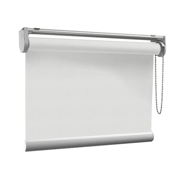 Afbeelding van Rolgordijn op maat Klik-en-klaar - Wit zand Transparant