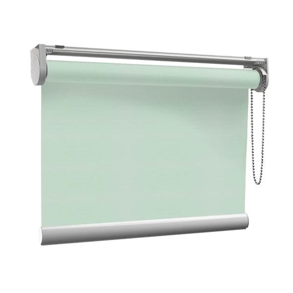 Afbeelding van Rolgordijn op maat Klik-en-klaar - Lichtblauw turquoise Transparant
